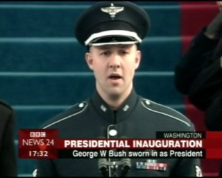 Technical Sargeant Bradley Bennet sings US National Anthem
